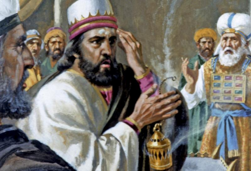 Rey Uzzia castigado
